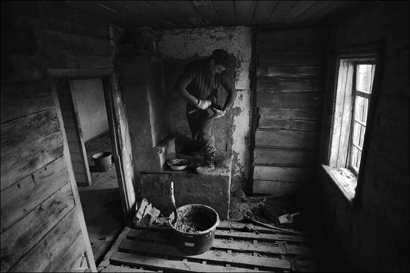 Repairing the furnace in an abandoned house