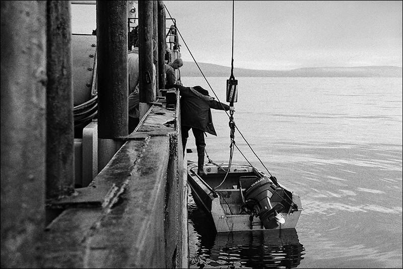 CHUKOTKA - THE BOAT ON WATER