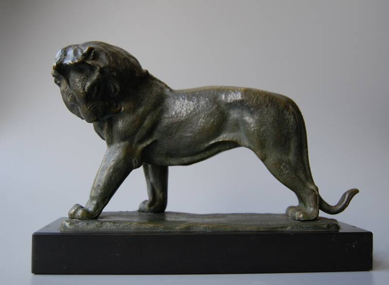 Irénée Rochard - Art deco sculpture: lion