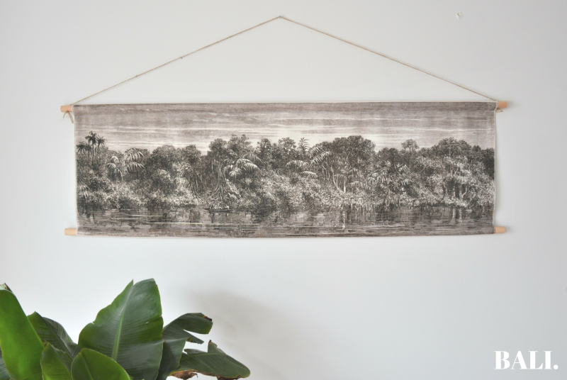 Wandkleed | Jungle Riverbed (120x40)