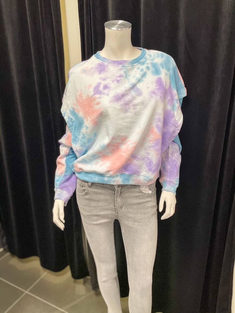 Touch of Lila Tie & Die Sweater