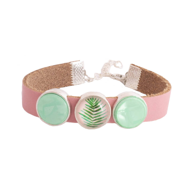 "Armband ""Light Green Leaf """