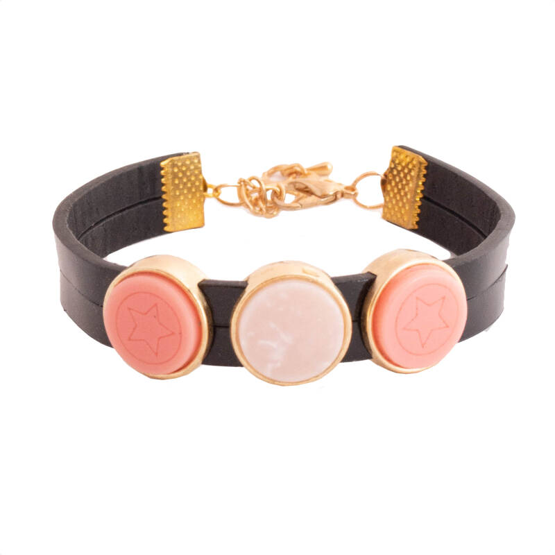 """Armband """"Pink Marble """""""