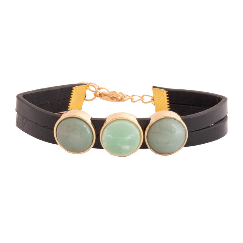 """Armband  """"Green Marble """""""