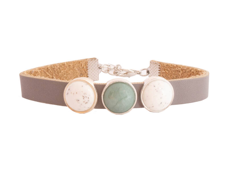 """Armband """"Marble Green """""""