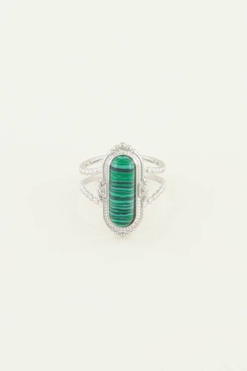 My Jewellery -  Ring groene steen