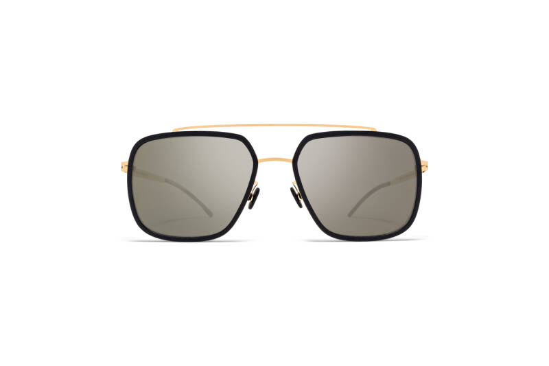 MYKITA MYLON MH7 Reed Pitch Black Glossy Gold Gun Metal Flash