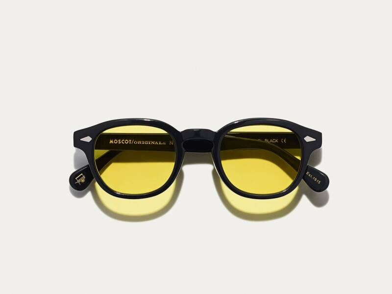 Moscot Lemtosh - Black/Mellow Yellow Tint