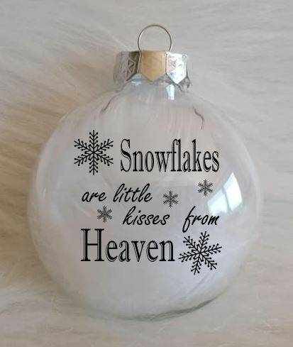 Kerstbal Snowflakes, kisses from heaven...