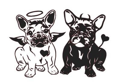 Franse Bulldogs (Design 1)