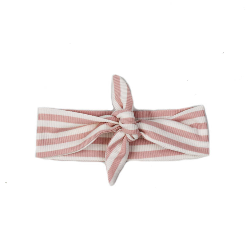 Haarband - Stripes - Rose - Handmade