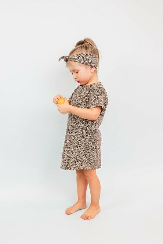 T-Shirt Dress | Baby Cheetah | Handmade