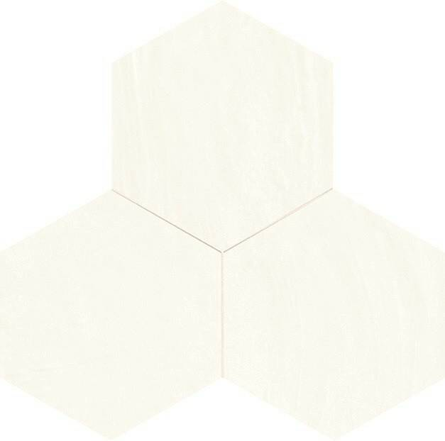 Decostyle hexagon tegel wit in glans en mat 25x22 cm