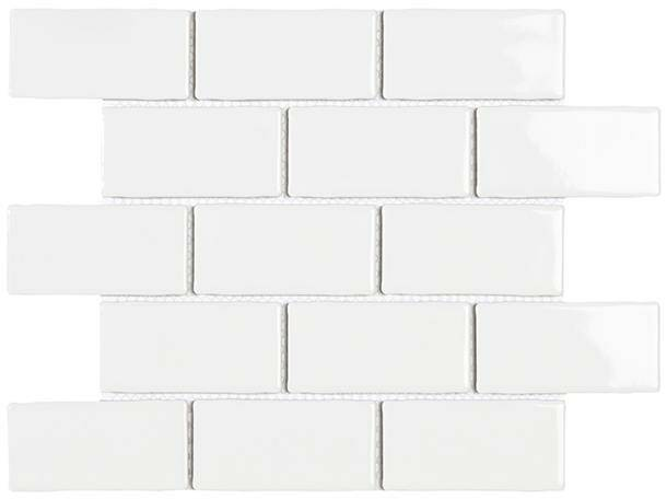 York White glans 26,5x31 cm