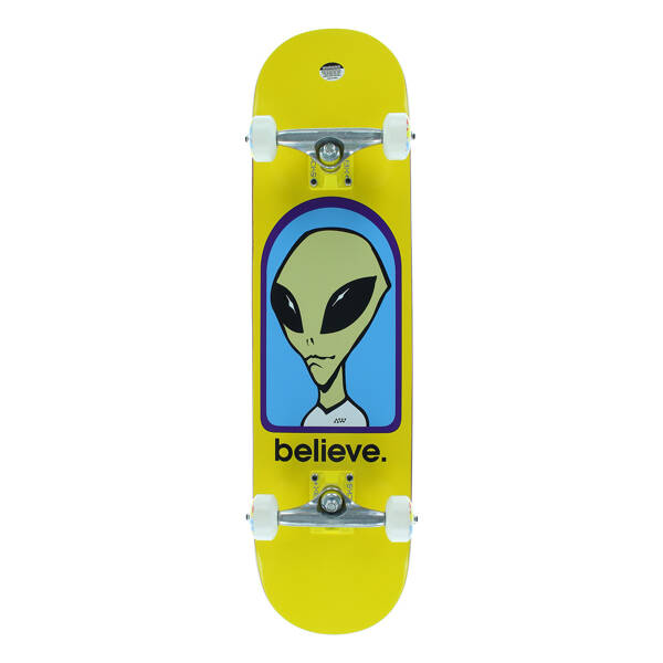Alien Workshop - Believe Yellow Complete Skateboard