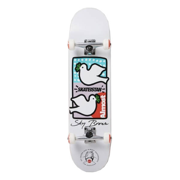 Almost Skateboards - Sky Brown - white Double Doves Skateistan Youth