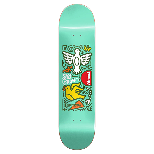 Almost Skateboards - Sky Brown - Doodle R7 Skateboard deck 7.75