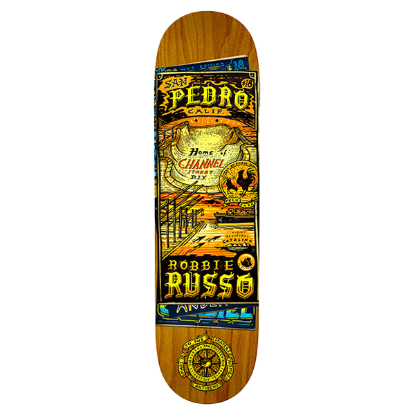 Anti Hero Skateboard Deck - Russo Maps To The Skaters Homes 8.25