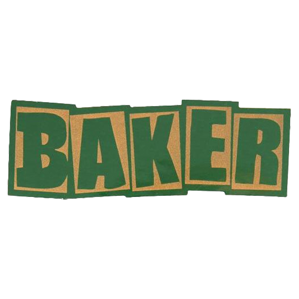 Baker Sticker Brand Logo Sticker Green