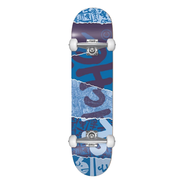 """Cliché Complete Skateboard - Ripped Blue First Push 8"""""""