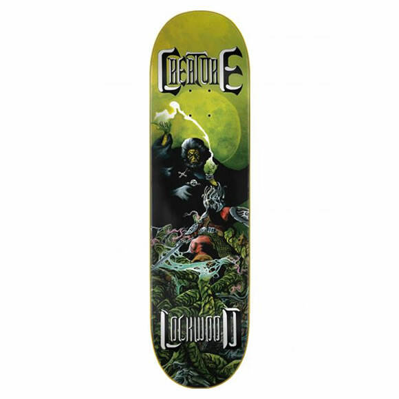 Creature Lockwood Onslaught Powerply Green/yellow Skateboard Deck 8.25""