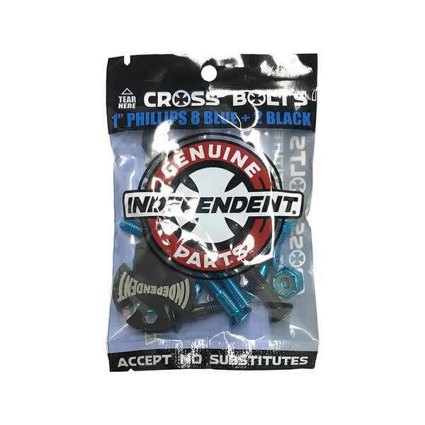 "Independent Mounting Kit 1"" Cross - 8 Blue + 2 Black"