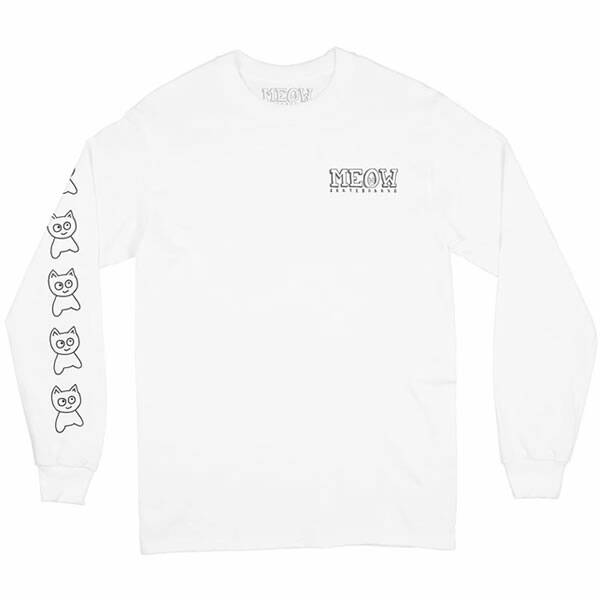 Meow Skateboard Longsleeve - Big Cat