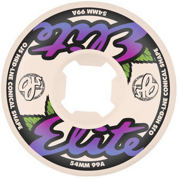 OJ Wheels Elite Hardline White with Purple 55mm