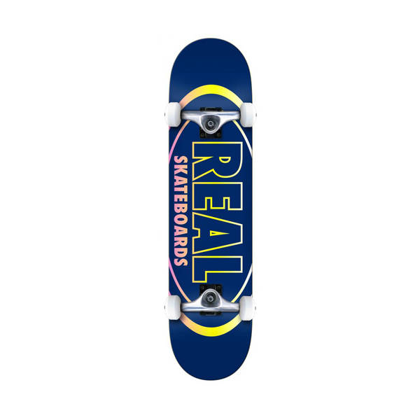"Real Team Oval Gleams 8.0"" Skateboard Complete - Blue"