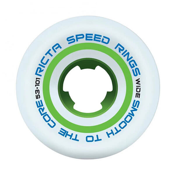 Ricta Wheels Speedrings Wide White/Green  53 mm