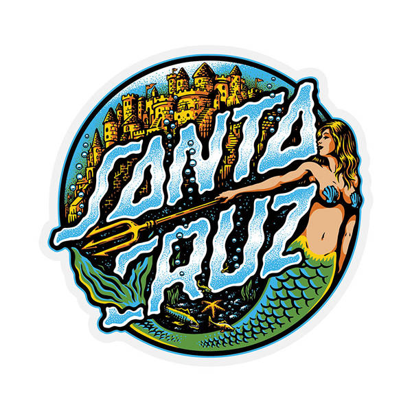 Santa Cruz Mermaid Dot Sticker