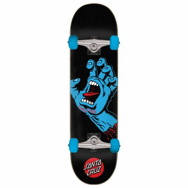 Santa Cruz Screaming Hand Full Black Complete Skateboard 8.0""