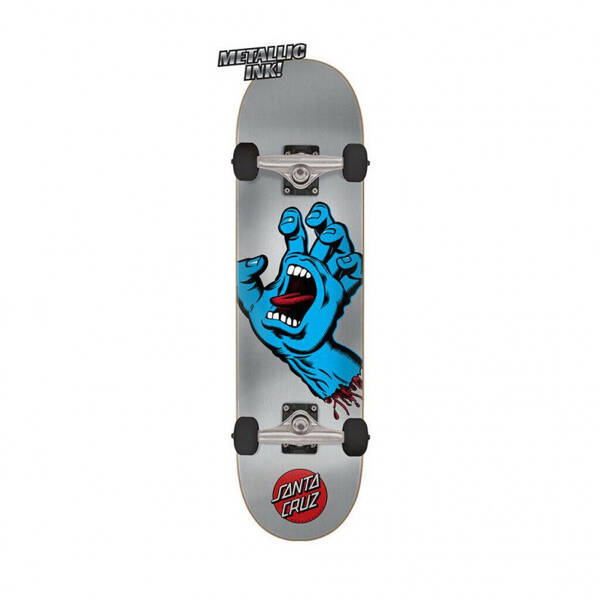 "Santa Cruz Screaming Hand Silver 8,25"" Complete Skateboard"