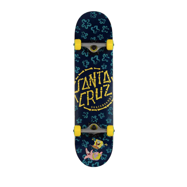"Santa Cruz Classic Dot Blue-metallic 8"" Complete Skateboard"