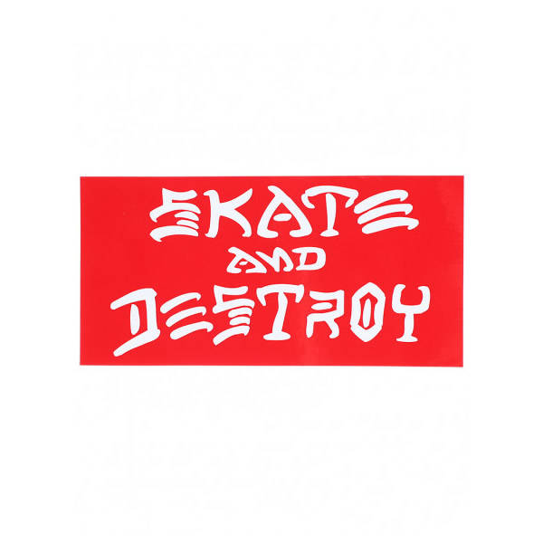 Thrasher Skate and Destroy Sticker - Red