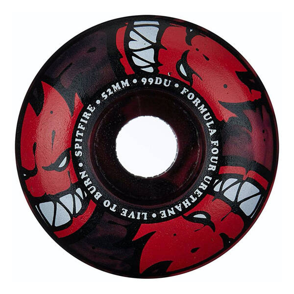 Spitfire Formula Four Afterburners Wheels 101D Red/Black Swirl 52mm