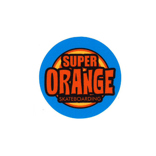Super Orange Skateboarding Stickers