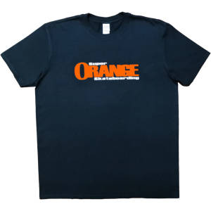Super Orange Skateboarding T-Shirt - Black