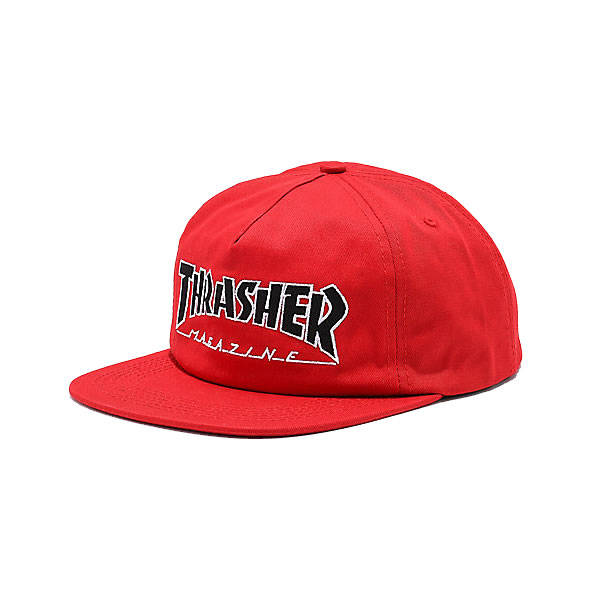 Thrasher Hat Outlined Snapback - Red