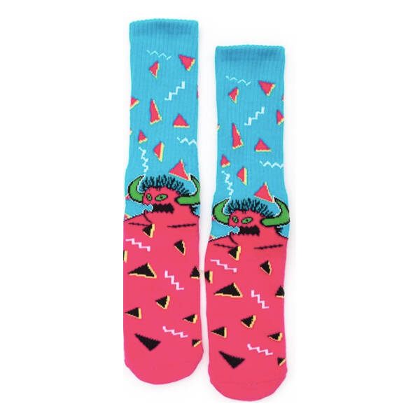 Toy Machine Crew Socks 80's Monster Big Stripe Grey
