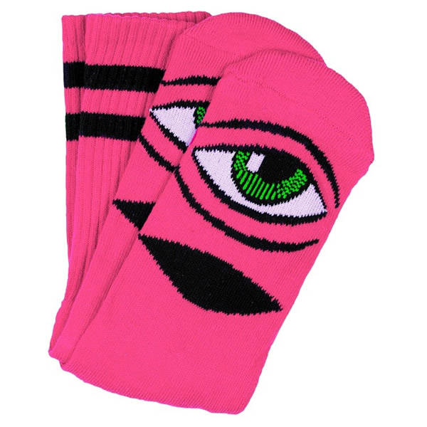 Toy Machine Sect Eye Pink Socks