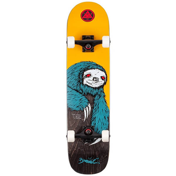 """Welcome Complete Skateboard - Sloth on Scaled Down Bunyip 7.75"""""""
