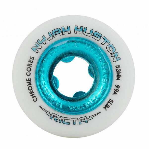Ricta Wheels Nyjah Huston Chrome Core Slim White 53 mm