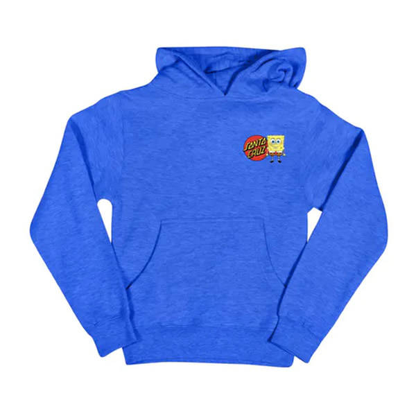 Santa Cruz Sponge Group Hoodie Youth - royal heather