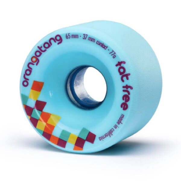 Orangatang Wheels Fat Free Blue 65mm