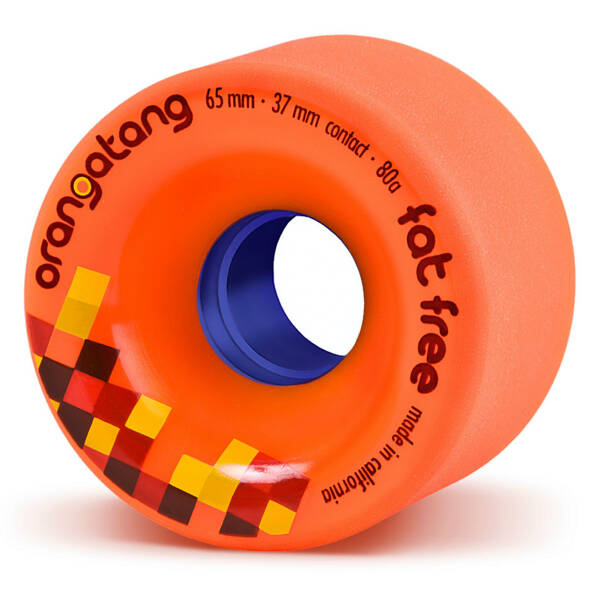 Orangatang Wheels Fat Free Orange 65mm