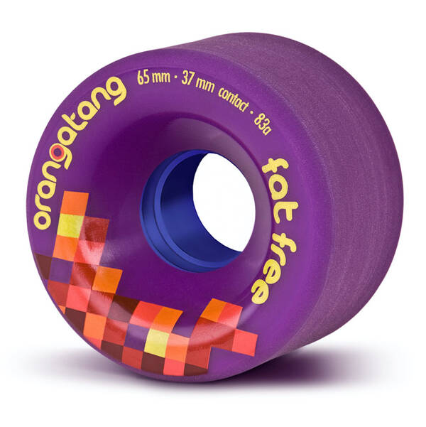 Orangatang Wheels Fat Free Purple 65mm