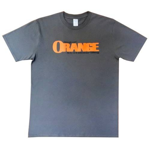Super Orange Skateboarding T-Shirt - Grey