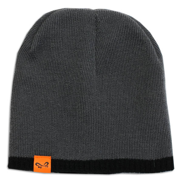 Super Orange Skateboarding Beanie - Grey-Black