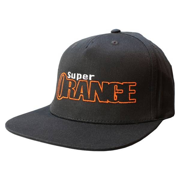 Super Orange Skateboarding Hat - Black